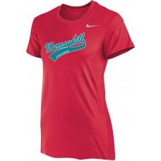 Murrayhill Little League 22: Nike Women's Legend Short-Sleeve Training Top - Scarlet Red