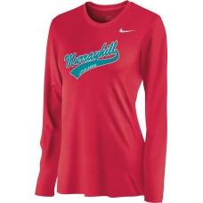 Murrayhill Little League 25: Nike Women's Legend Long-Sleeve Training Top - Scarlet