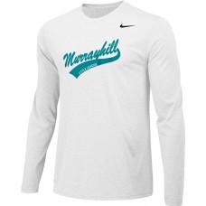 Murrayhill Little League 23: Adult-Size - Nike Team Legend Long-Sleeve Crew T-Shirt - White