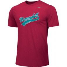 Murrayhill Little League 20: Adult-Size - Nike Team Legend Short-Sleeve Crew T-Shirt - Scarlet Red