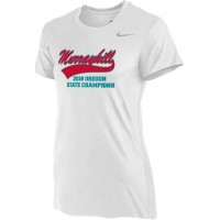 Murrayhill Little League All-Stars 22: Nike Women's Legend Short-Sleeve Training Top - White with Graphics on Front and Back