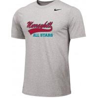 Murrayhill Little League All-Stars 11U: Adult-Size - Nike Team Legend Short-Sleeve Crew T-Shirt - Gray